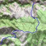 Sur les Pas des Huguenots carte 7 St Julien d'Arpaon - Pont de Montvert
